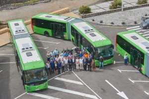 Presentación nueva flota Titsa en El Médano