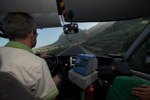Apertura carretera Teno con el servicio TITSA